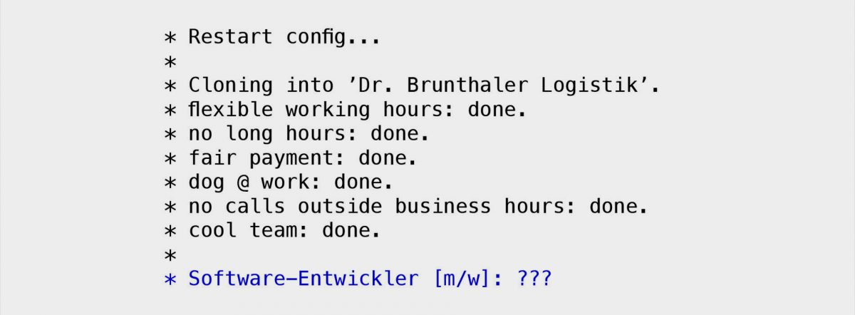 Softwareentwickler gesucht